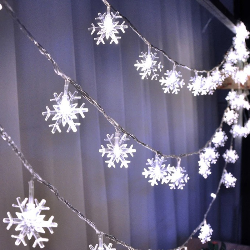 20LED 3M String Fairy Lights Battery Power Snowflake Christmas Tree Party Home Decor SKD88