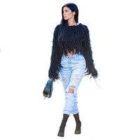Sweaters Series Autumn Winter Women Tassel Knitted Elegant Mohair Shaggy Yarn Jumper Femme Fashion Sweater Handmade Pullover