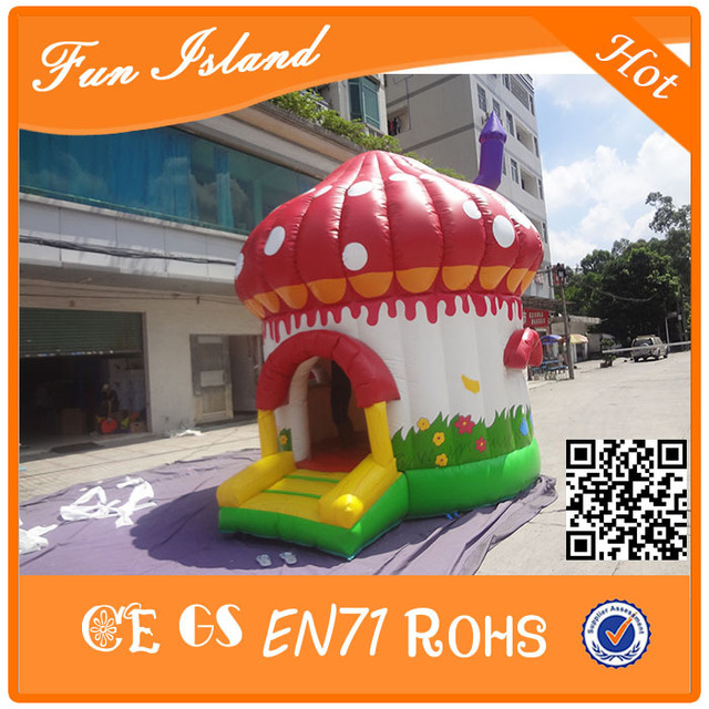 Free shipping 2015 Latest Inflatable colourful Mushroom/ new design inflatable bouncer jumping for kids