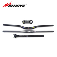 Newest Ullicyc MTB Bicycle Handlebar Set Mountain Bike Rise Flat Handlebar Full Carbon Stem Seatpost