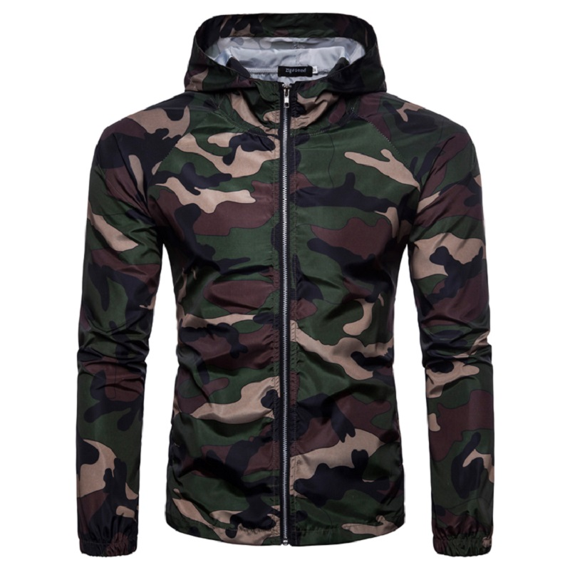 Men Autumn Winter Basic Camping Jacket Military Tactical Jacket Men Waterproof Coat Camouflage Hooded Army Camo Clothing