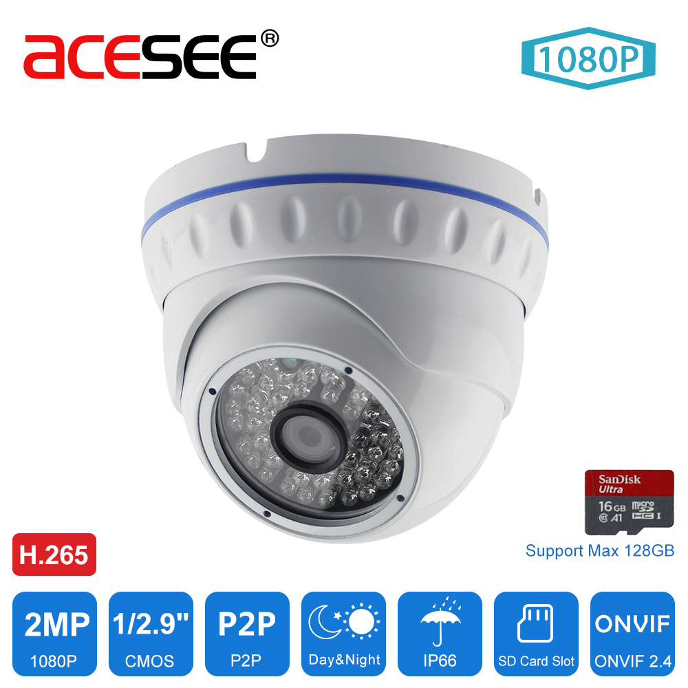Acesee CCTV Video IP Camera 1080p Surveillance Outdoor AHD Camera Onvif  Home Security Cameras Waterproof with IR-CUT IP Webcam jienuo ip camera 960p outdoor surveillance infrared cctv security system webcam waterproof video cam home p2p onvif 1280 960