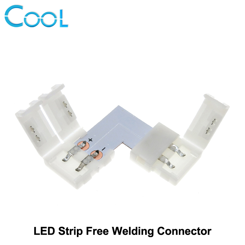 LED Strip Connector 2pin 10mm L Shape / T Shape / X Shape Free Welding Connector 5pcs/lot. new 5pcs 2pin 3pin 4pin led connector l t x shape fpc adapter free welding for 8mm 10mm 3528 2812 5050 rgb light strip