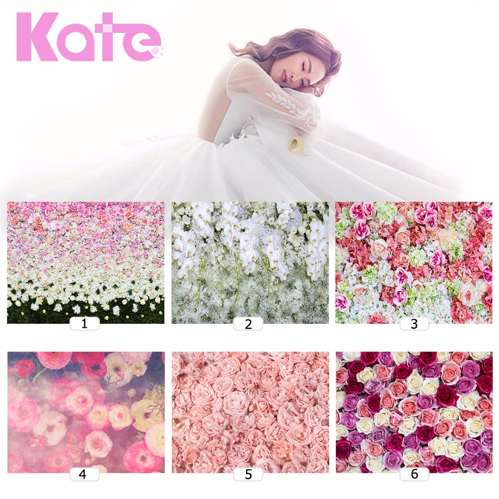 Kate Photo Flowers Wall Backdrops Blume Fotografia Photographie Backgrounds 6 Styles for Wedding Fondo Fotos Baby Newborn 3X2m kate photography backdrops newborn baby black and white grid fondo navidad chess board backgrounds for photo studio