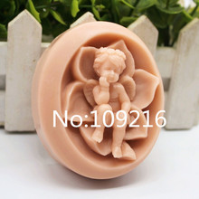 New Product!!1pcs The Hold Chin Baby With Lotus (zx209) Food Grade Silicone Handmade Soap Mold Crafts DIY Mould