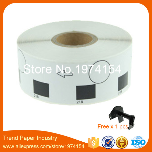 48 Rolls Brother DK-11218 Label Compatible 24mm Adhesive Round Sticker DK1218 for QL-700 DK-1218 DK11218 Thermal Label