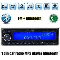 12 V Bluetooth USB/SD/AUX MP3 player Đài Phát Thanh Xe xe Điện Tử Stereo Âm Thanh Độc Din FM loa nhạc auto