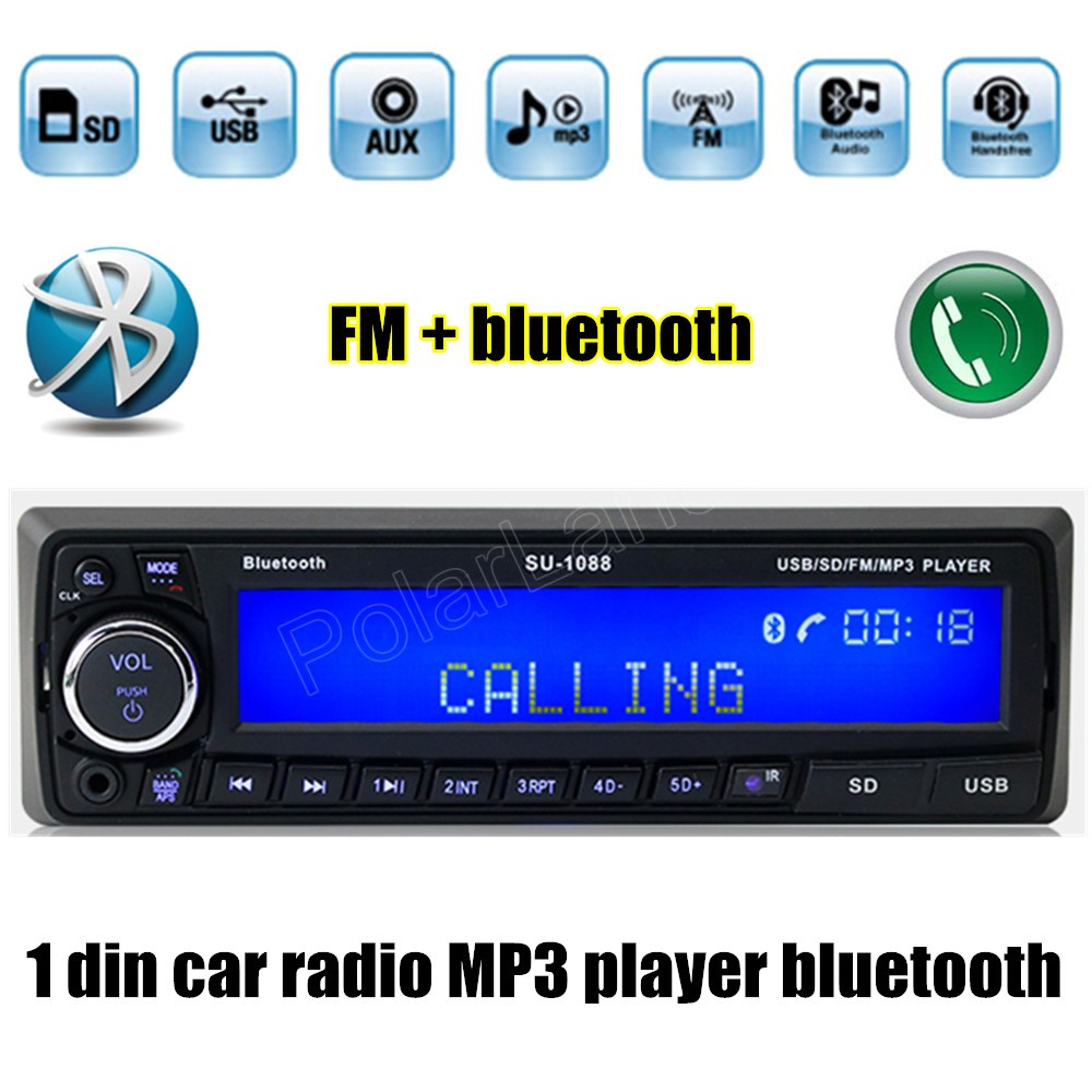 12v bluetooth usb sd aux mp3 player radio car electronic vehicle stereo audios single din fm. Black Bedroom Furniture Sets. Home Design Ideas