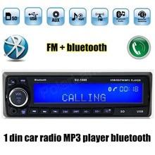 12V Bluetooth USB SD AUX MP3 player Radio Car Electronic vehicle Stereo Audios Single Din FM