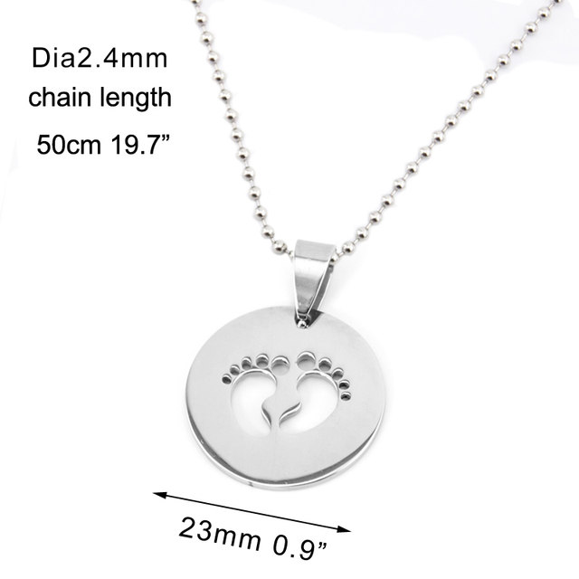 Online shop risul stainless steel baby foot necklacespendants risul stainless steel baby foot necklacespendants blank dog tags high polish mom jewelry gift baby feet charm necklace wholesa aloadofball Choice Image