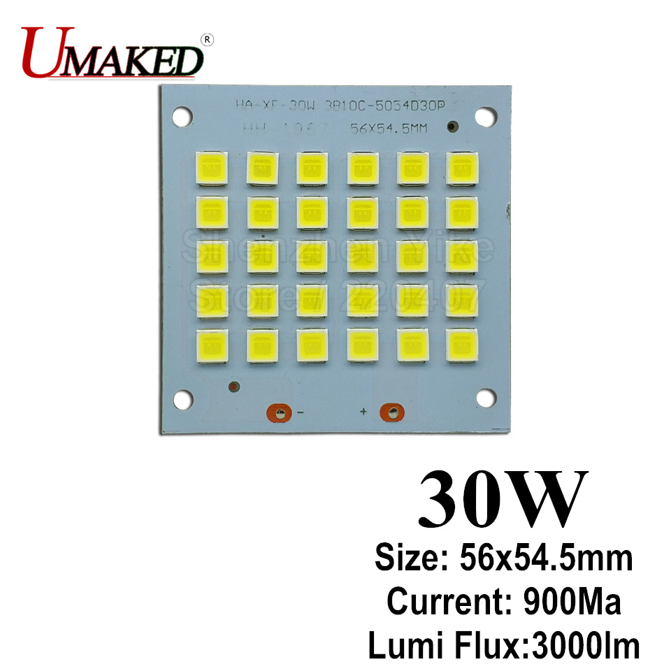 30W 56x55mm LED Floodlight PCB board, 3000lm LED SMD5054 lighting source for led floodlight, Aluminum plate base board