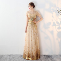 Luxury Dresses Women 2018 Runway Sequin Retro Boho Lace Summer Sexy Elegant Vintage Evening Party plus size Gold Mesh Dress