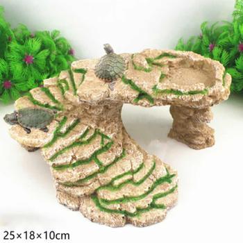 Adeeing Żółw Wygrzać Platformy Chinampa Basking Platformy Akwarium Terrarium Dekoracji
