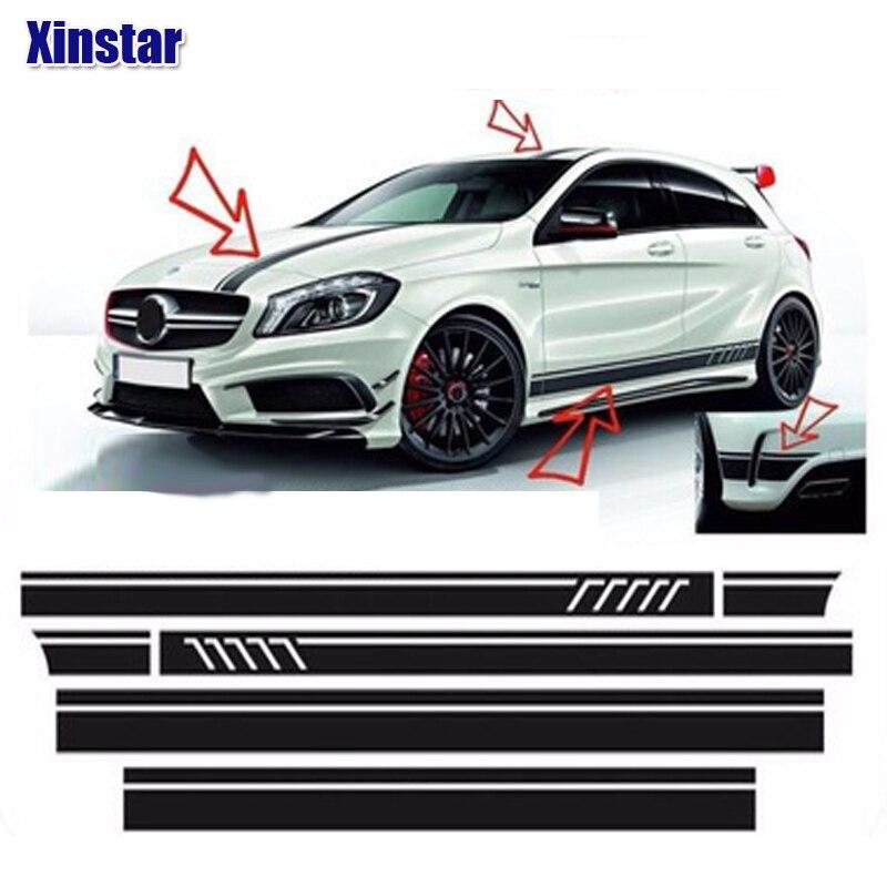 4pcs lot car body decoration sticker For Mercedes benz AMG w204 w211 W210 CLK c180 e200
