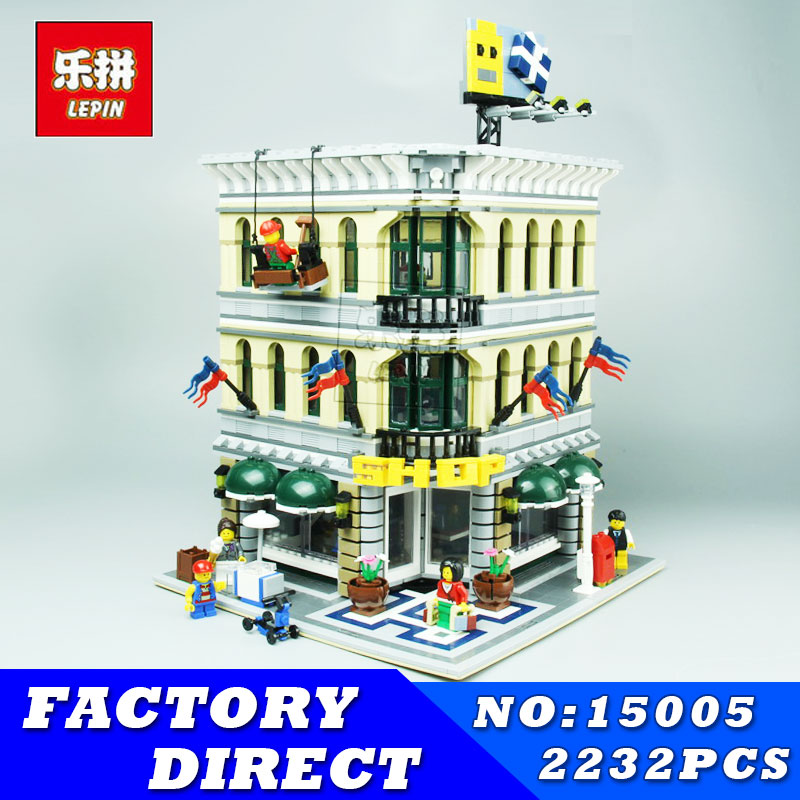 2017 DHL LEPIN 2182Pcs Grand Emporium Model Creator City Street Building Kits Blocks Bricks Toy Compatible Children Toy Gifts lepin 15018 3196pcs creator city series sunshine hotel model building kits brick toy compatible christmas gifts