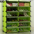 Ultrathin storage cabinets simple combination of creative capacity dust-proof shoe rack twelve grid