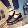 2017 женская обувь с колледжа ветер восстановление древних путей одноместный губка толстым дном обувь повседневная обувь