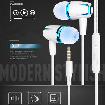 HD Microphone In-ear Earphone 3D Stereo Sound Wiring Earbuds Free Answer Control Earpiece