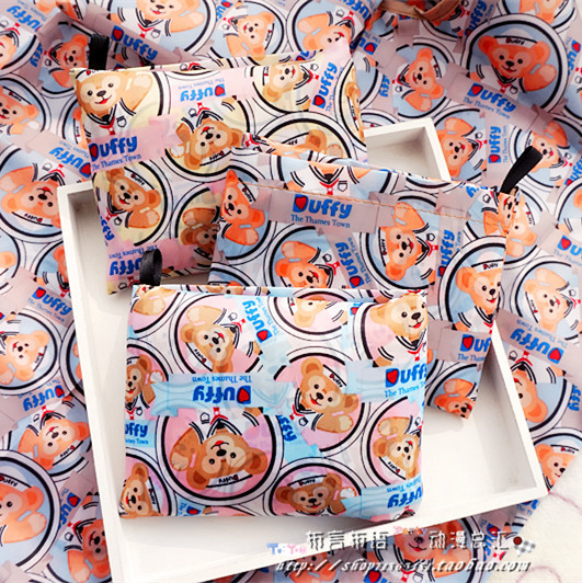 New Cartoon Japan Duffy Bear Portable Foldable Shopping Bag Eco Bag Duffy Bear Stellalou Folding Grocery Bag Bear Shoulder Bag