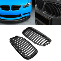 Front Kidney Grille For BMW E90 3 Series E90 E91 LCI 323i 325i 328i 330i 335i 2008 2009 2010 2011 4DR Gloss Black Dual Line ABS
