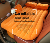 DHL Free Shipping Car Travel Bed Car Back Seat Cover Inflatable Mattress Air Bed Good Quality