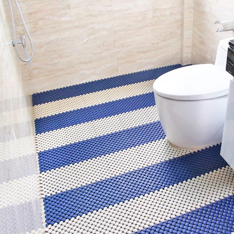 Us 1 0 30 Off Diy Cut Splice Household Bathroom Mat Simple Hollow Water Bathroom Shower Room Full Shop Pvc Floor Bath Mats Bathroom In Bath Mats