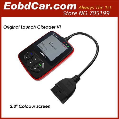 [ Launch distributor] Original Launch Creader VI Color Screen Support English/Spanish/French/Russian/Portugese OBD2 Code Scanner