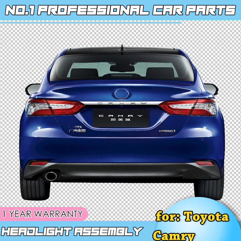 For Toyota Camry 2018 Taillights LED DRL Running lights Fog lights angel eyes Rear parking lights Car Styling Tail lights