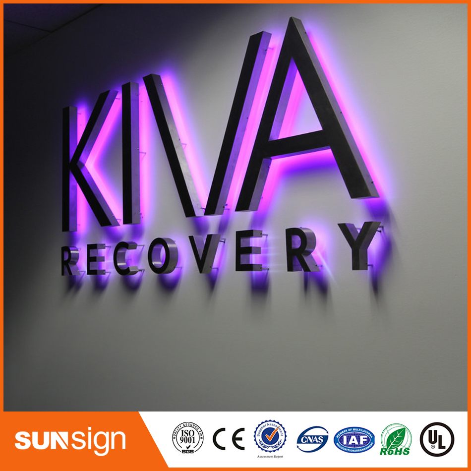 Customized Backlit Acrylic Letter Stainless Steel Channel Letter