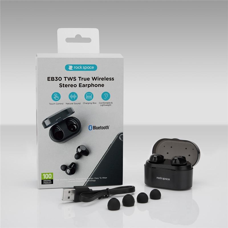 Rockspace negocios auriculares Bluetooth Wireless 3D Hifi auriculares estéreo de auriculares y banco de potencia con micrófono manos libres llamadas - 6