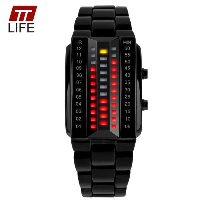 2016 TTLIFE 1013 Manera de la Alta Calidad de Los Hombres Reloj de pulsera Con Calendario de Aleación Analógico Relojes De Lujo Nueva binario led relojes de pulsera
