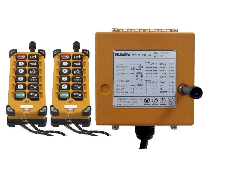 F23 a + 4 движений 1 Скорость подъемника такелаж кран Лебёдки Радио Дистанционное управление 2 т + 1R 10 функциональных кнопок AC /dc18v 65v