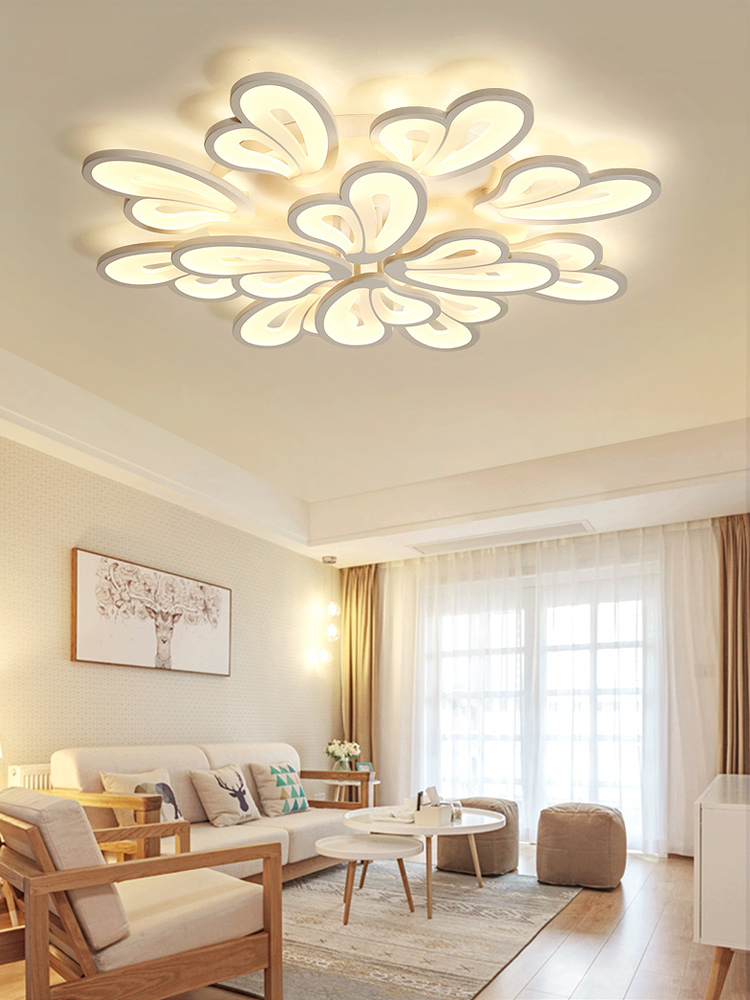 HTB1e.rjaf1H3KVjSZFHq6zKppXaT IRALAN modern led chandelier with remote control acrylic lights For Living Room Bedroom Home lighting ceiling Fixtures