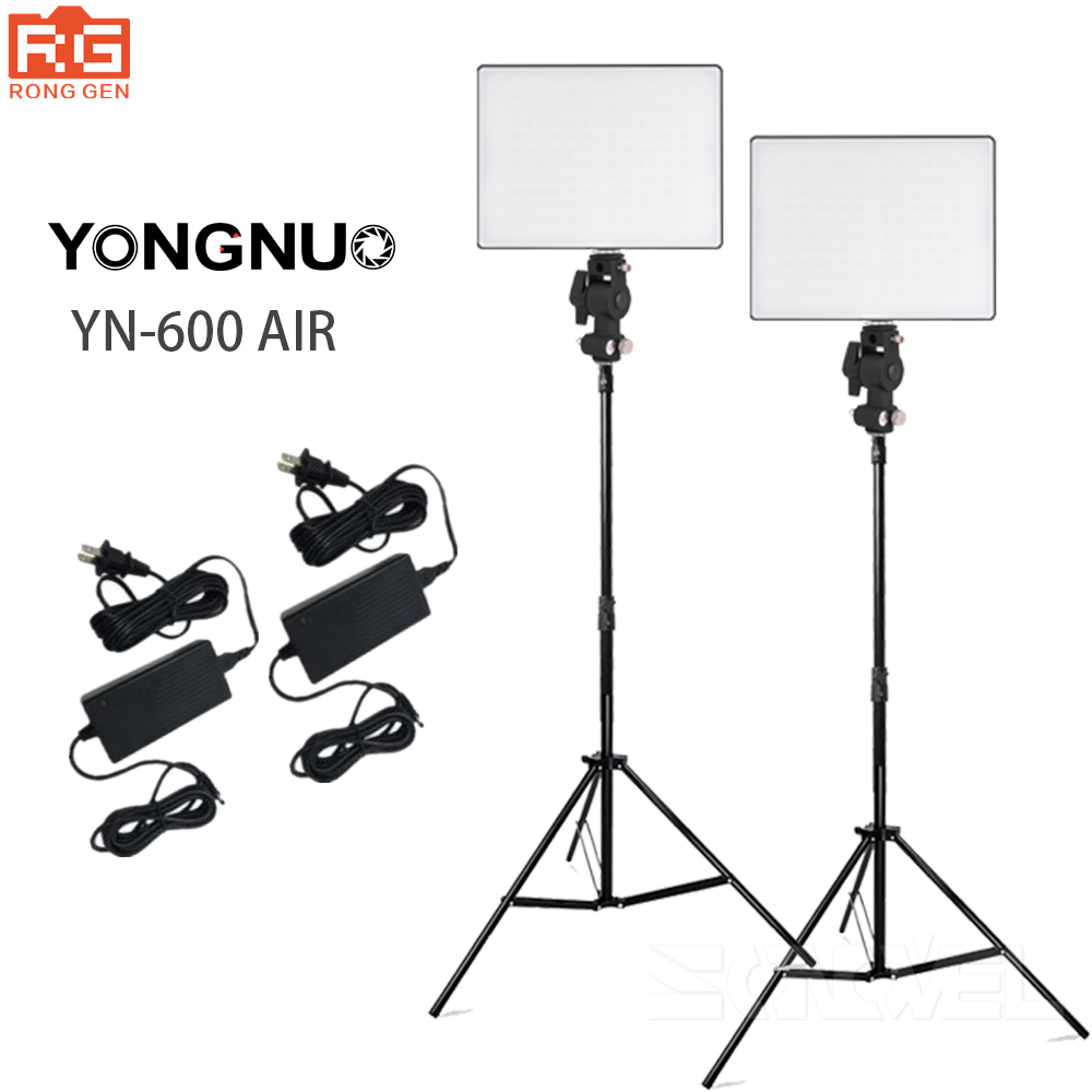 YONGNUO YN600 Air LED Camera Video Photography Lights 3200K-5500K Kit for Canon Nikon Pentax Olympas Samsung DSLR & Camcorder yongnuo yn600 air ultra thin led camera video light 3200k 5500k for canon for nikon for pentax for olympas for samsung dslr