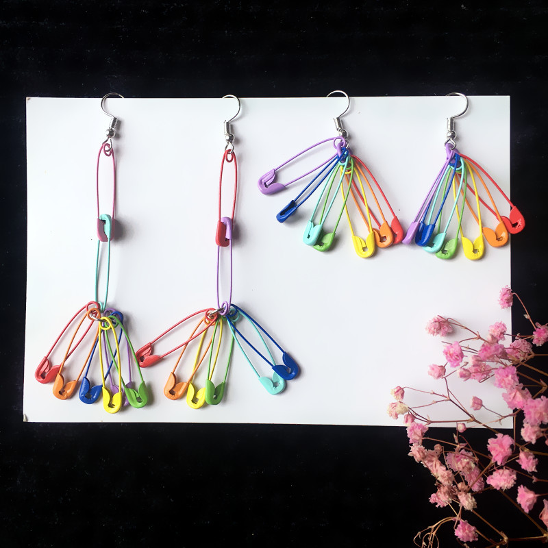 Rainbow Pins Earrings 4