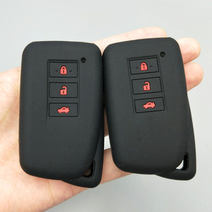 Image 5 - 3/4 כפתור רכב מפתח מגן לקסוס הוא ES GS NX GX RX LX RC 200 250 300 350 2014 2015 2016 סיליקון Keyless fob כיסוי מקרה
