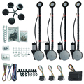 Universal 4 door electric power window kits with Japanese motor technology DC12V long lifespan classic version