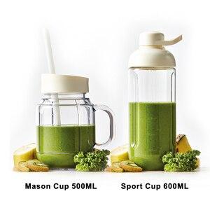 Image 5 - ANIMORE портативный Электрический блендер, соковыжималка для фруктов, молочный коктейль, миксер, многофункциональная машина для приготовления сока в стиле ретро