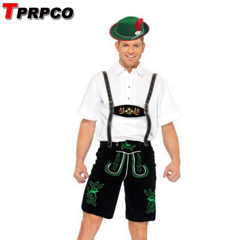 TPRPCO Oktoberfest Costume Mens Lederhosen Octoberfest Bavarian Beer Clothes NL1851