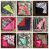 Baby Chevron Minky Blanket Knitting Shower Gift Baby Cotton Blanket Minky Feather Baby Super Soft Blanket