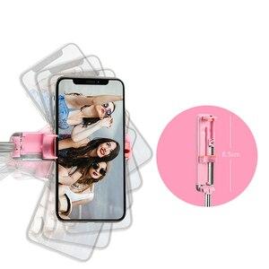 Image 4 - Bluetooth Mini Selfie Stick portátil extensible monopié alambre controlado teléfono móvil para samsung huawei iPhone 6S