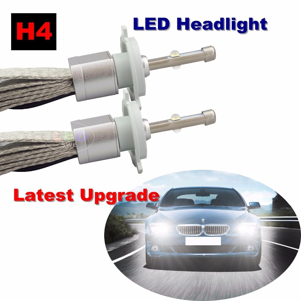 2 шт. Cree XHP-70 чипы 9600lm фар автомобиля H7 светодиодный H4 H11 9005 9006 Blanc белый авто лампы автомобильных фар conversion Kit