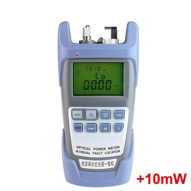 2 EN 1 Fiber Optique Power meter avec 10 km localisateur Visuel de défauts 10 mw