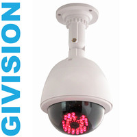 CCTV Ptz Fake Security Camera Dummy Outdoor Camera Dome With Red LED Infrared Fake Surveillance Cameras