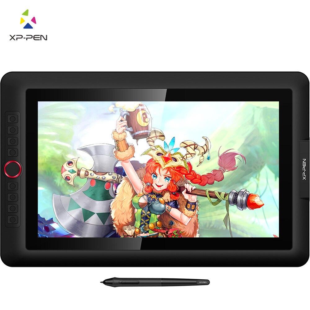 XP-Caneta Artist15.6 Pro tablet de Desenho Gráfico Digital monitor de tablet Mostrador Vermelho com 60 graus de inclinação da função e 8 teclas expressas