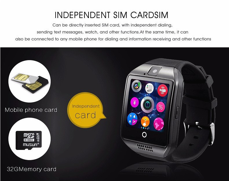Q18 Fashion Bluetooth Smart Watch Աջակցություն SIM - Կանացի ժամացույցներ - Լուսանկար 3