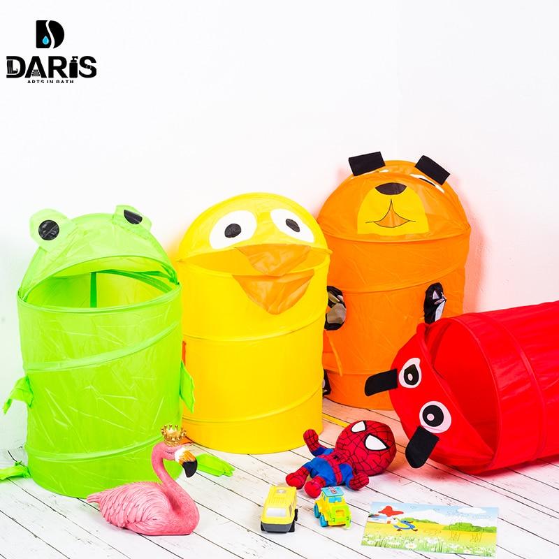 Cute Animal Collapsible Toy Storage Organizer Folding: SDARISB Cute Cartoon Animal Basket Foldable Clothes