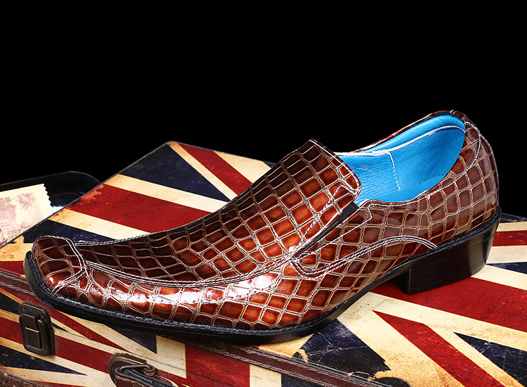 Boda Otoño Kwok Vestir Trajes 46 Toe Hombres Resbalón Grande En Tamaño Ch Guinga Zapatos De As Cuero Oxfords Pisos Pic Square Perezoso wSqFxI