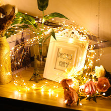 LED String Fairy Light 1-10M Garland CR2032 AA on Battery Powered Copper Wire Waterproof for Outdoor Christmas Decoration(China)