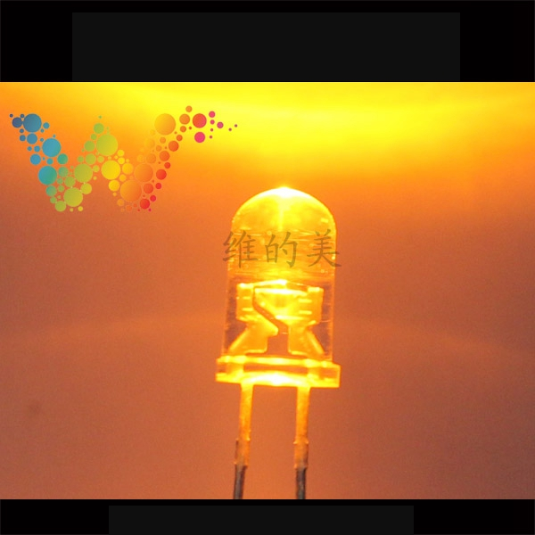 Shenzhen LED Manufacturer Sales Traffic Light Emitting Diodes Yellow Color Small LED